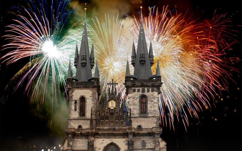 Фейерверк в Праге