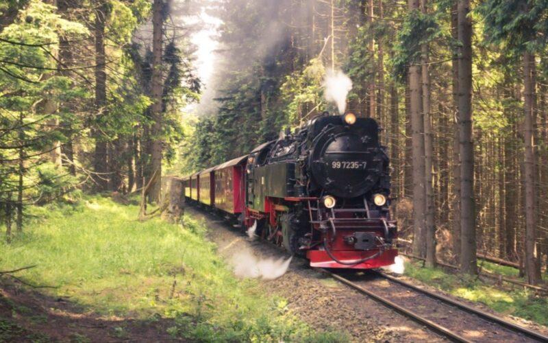 Исторический поезд в Чешский Крумлов