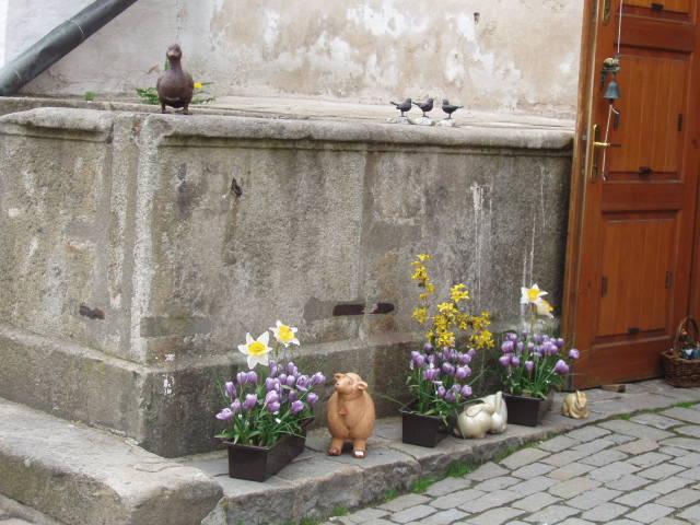 Фигурки в Чешском Крумлове