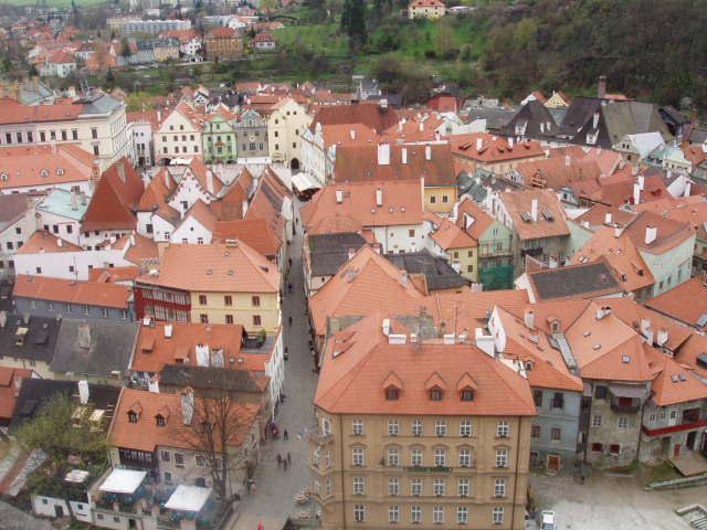 Черепичные крыши Чешского Крумлова