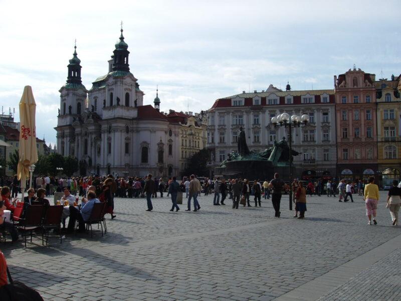 Прага Староместкая площадь Ян Гус