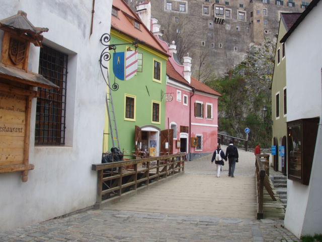 На улице в Чешском Крумлове
