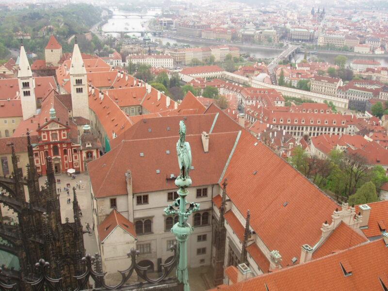 Вид с башни собора Святого Вита Прага
