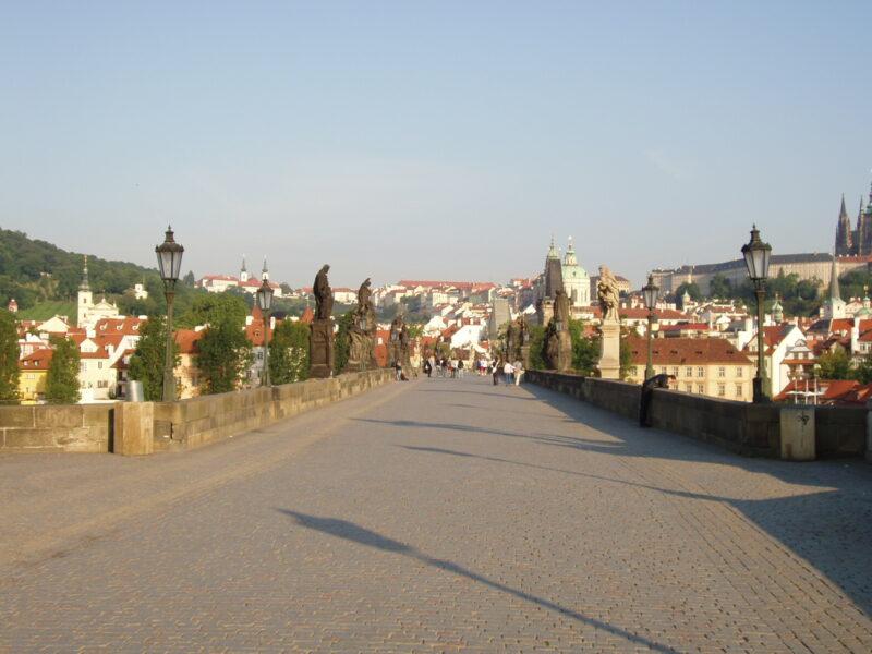 Рассвет на Карловом мосту Прага