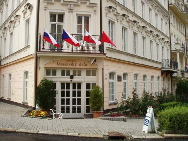 Отель Московский двор Карловы Вары лето