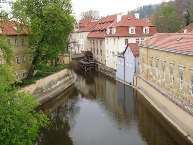 Прага. Чертовка. Следы наводнения 2002